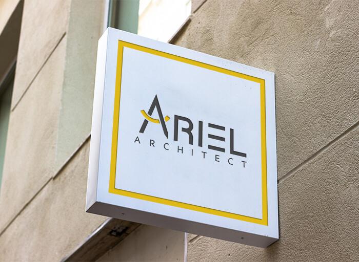 Ariel Architect Logo Mockup