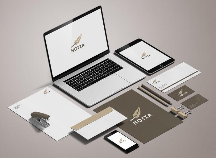 Notza Branding Mockup