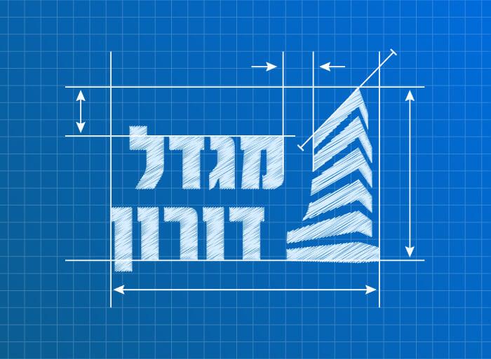 Doron Tower Blueprints Mockup